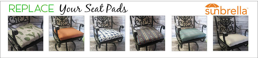 Custom Outdoor Seat Pads for Patio Furniture Chairs