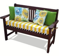 Bench Cushions and Poly Print Pillows