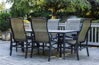 Single layer replacement slings for many styles of fabric sling outdoor patio chairs and chaises.