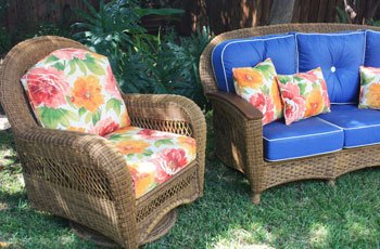 Cushions for Traditional Wicker style patio chairs.