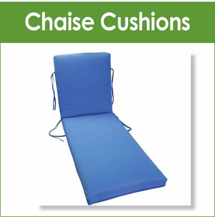 Replacement cushions for chaise lounge patio furniture