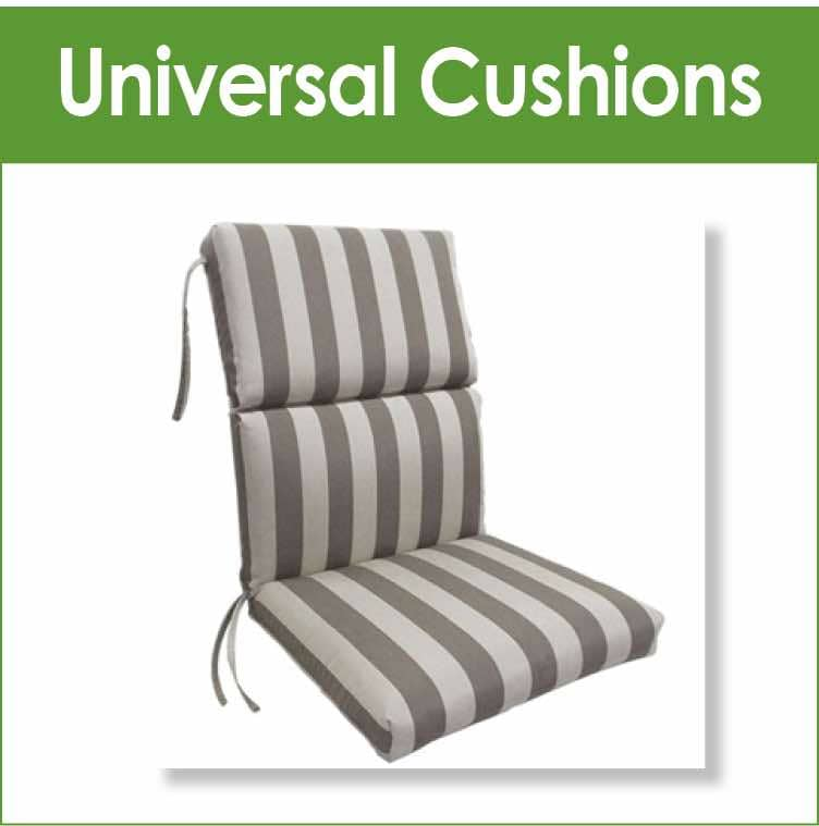 Universal chair and chaise lounge replacement outdoor cushions