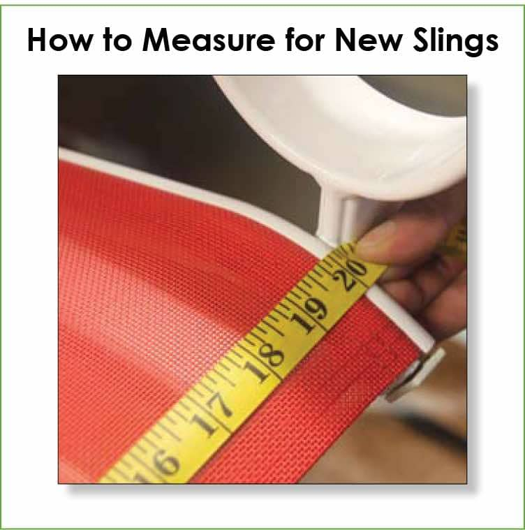 How to measure instructions for new replacement sllings