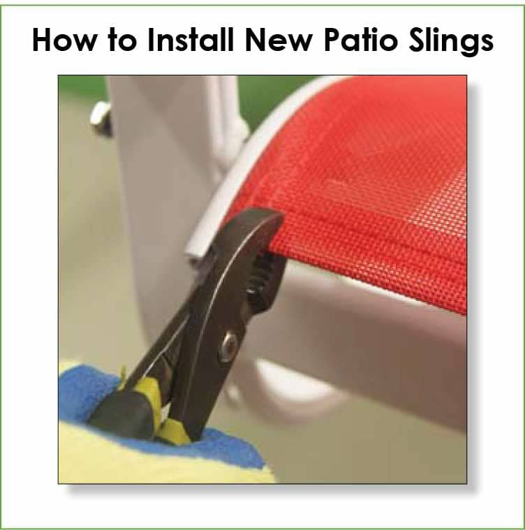 Installation instructions for new patio furniture replacement slings